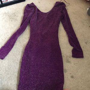 GUESS plum sequin dress